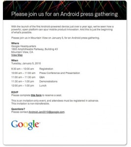 Google Event Invitation