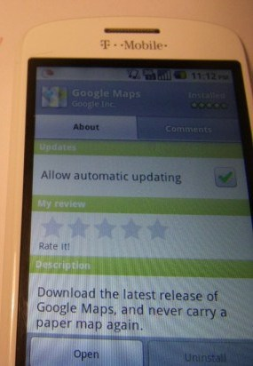Android 2.2 HTC Magic Shop