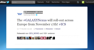 Samsung Galaxy Nexus in Europa