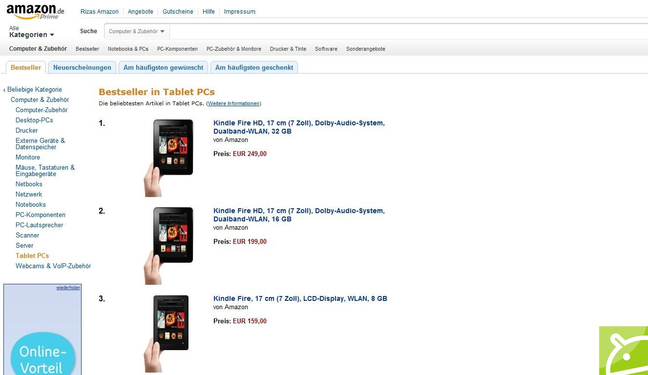 Amazon-Kindle-Fire-HD-Charts