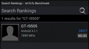GALAXY S4 AnTuTu-Benchmark