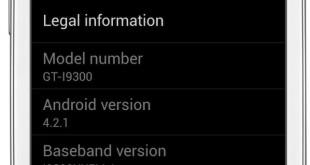 Samsung GALAXY S3 Android 4.2.1
