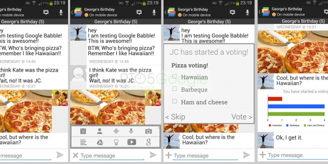 Google Babble Messenger