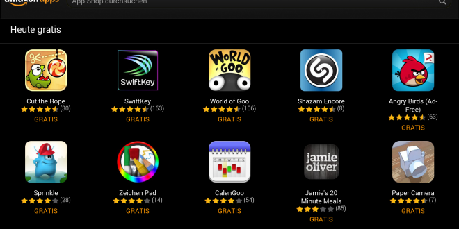 Amazon App Shop - 10 Gratis Apps